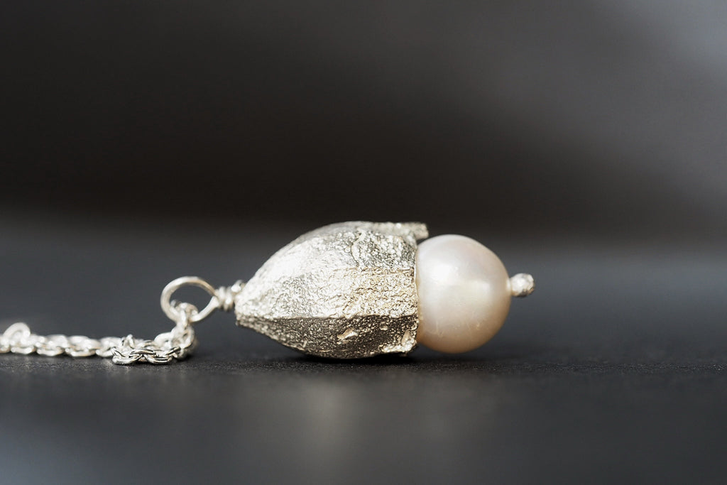 Large Pearl Gumnut Necklace