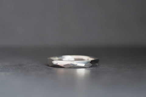 Silver Geo Facet Ring