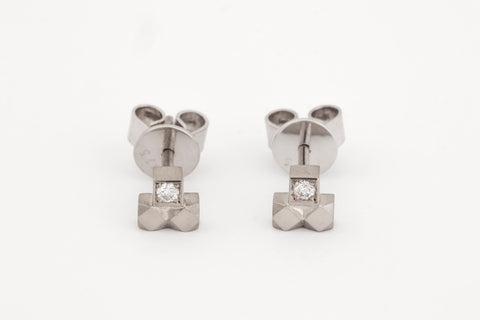 Mexicali Capitel Diamond Studs White Gold