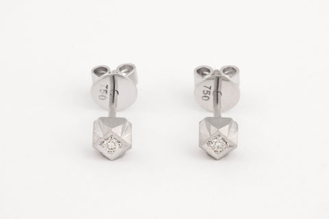 Mexicali Diamond Studs White Gold