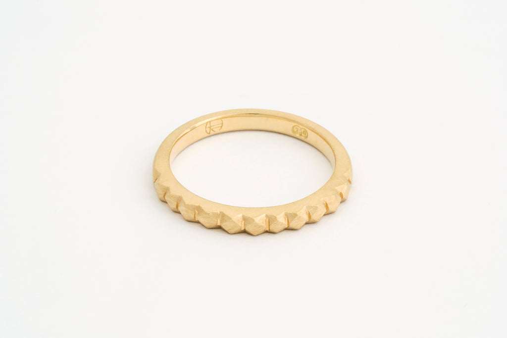 Wide Gold Mexicali Ring