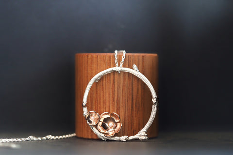 Large Twig and Blossom Pendant