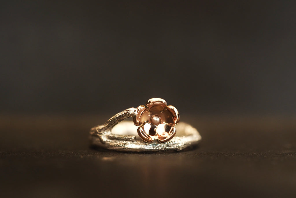 Twig and Blossom Single Branch Ring