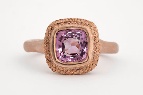 Plum Spinel Rose Gold Ring