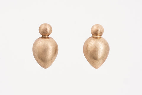 Yellow Gold Bud Studs
