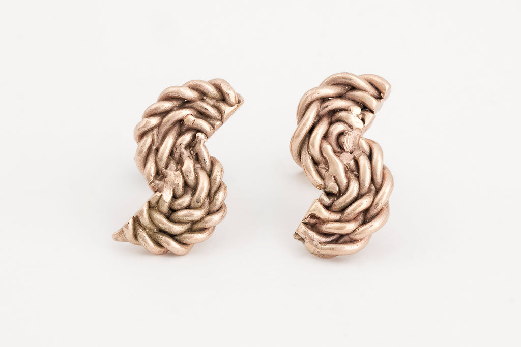 Yellow Gold Rope Studs