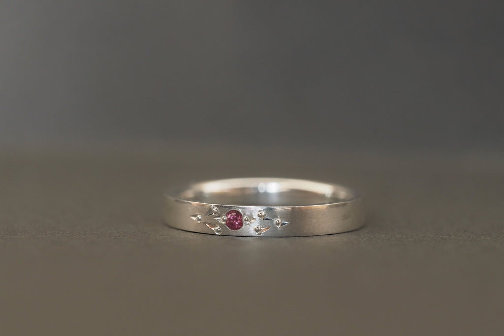 Tiny Little Love Pink Sapphire Ring
