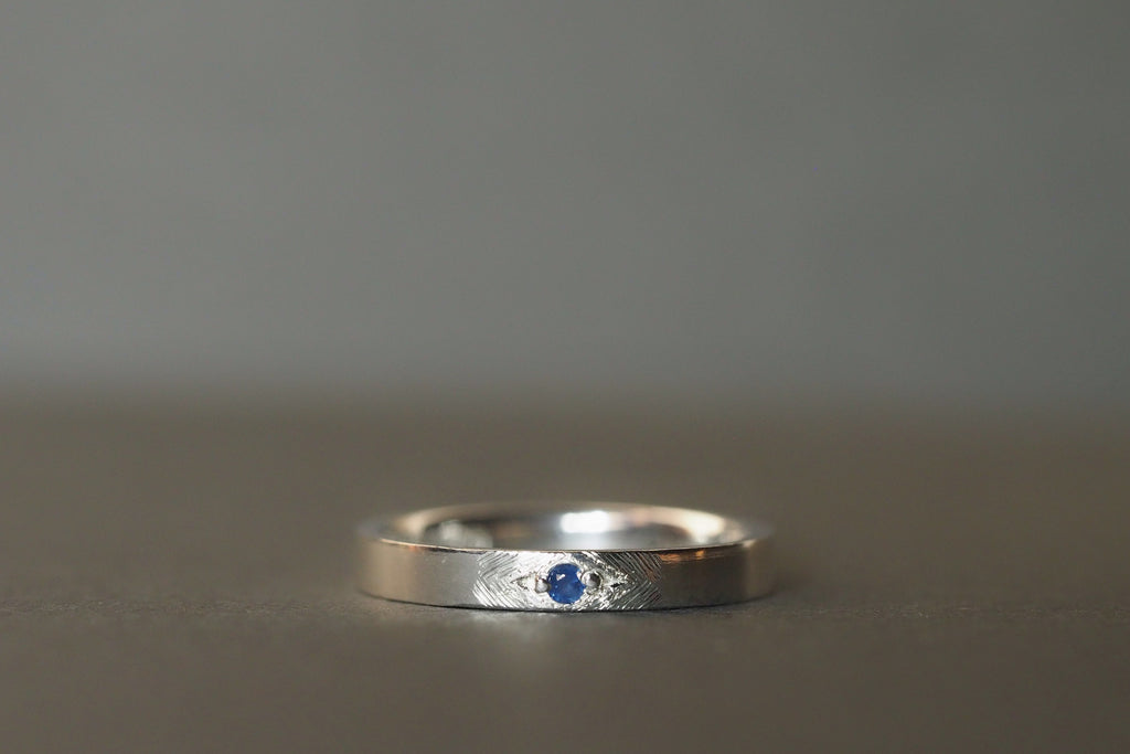 Tiny Little Love Blue Sapphire Ring