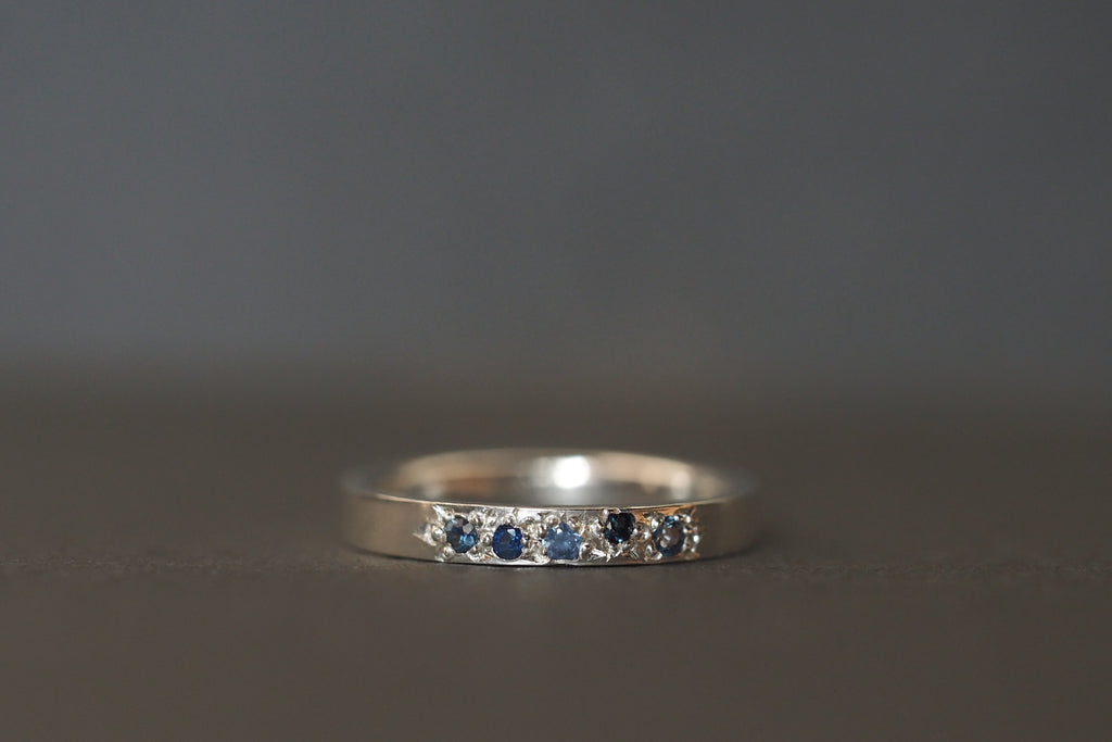 Tiny Little Love Blue Sapphires Ring