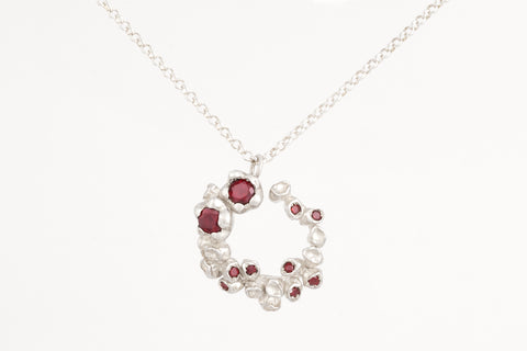 Garnet Bottlebrush Necklace