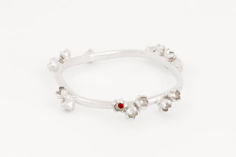 Garnet Blossom Bangle
