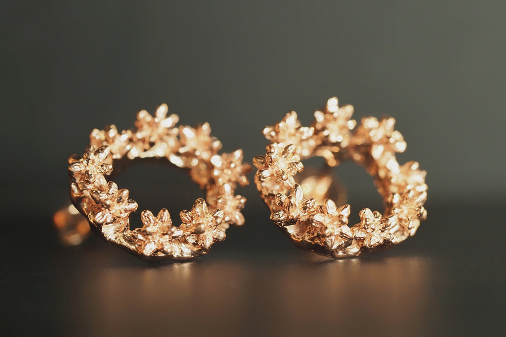 Rose Spur Wreath Studs