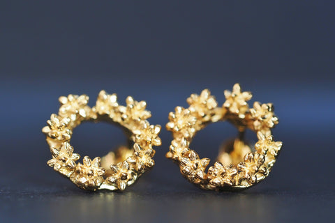 Yellow Spur Wreath Studs
