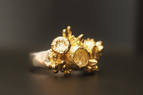 Gold and Silver Enchanted Forest Ring