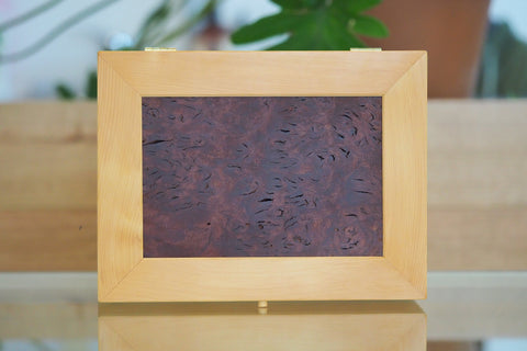 Huon Pine and Jarrah Burl Large Timber Jewellery Box