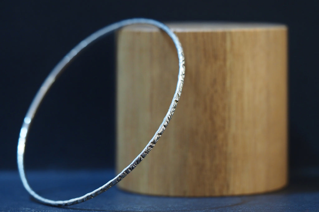 Silver Criss-cross Tactility Bangle