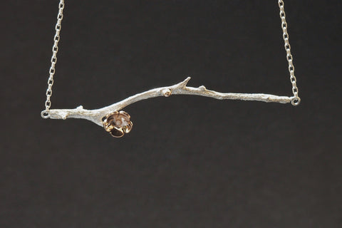 Horizontal Twig and Blossom Pendant