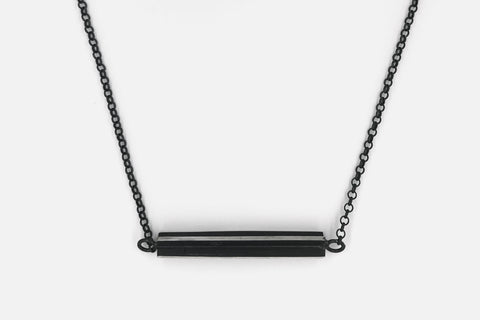 Black Horizontal Necklace