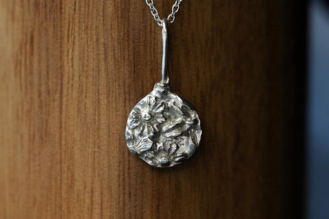 Silver Floral Relic Necklace