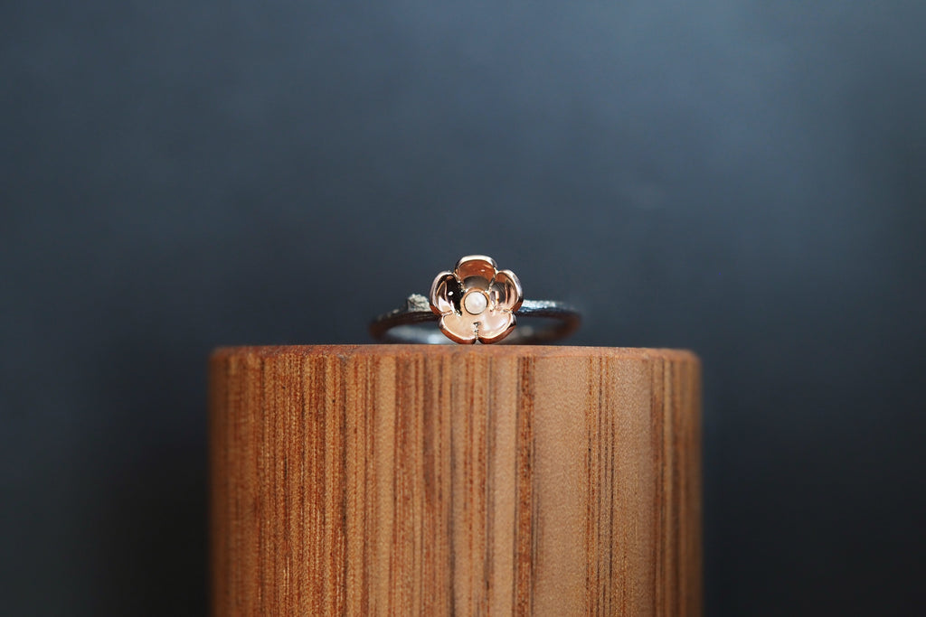 Small Twig and Blossom Ring