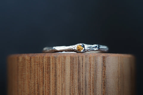 Sticks and Stones Citrine Ring