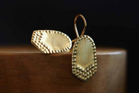Gold Insignia Earrings