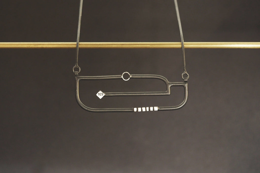 Art Deco Horizontal Necklace