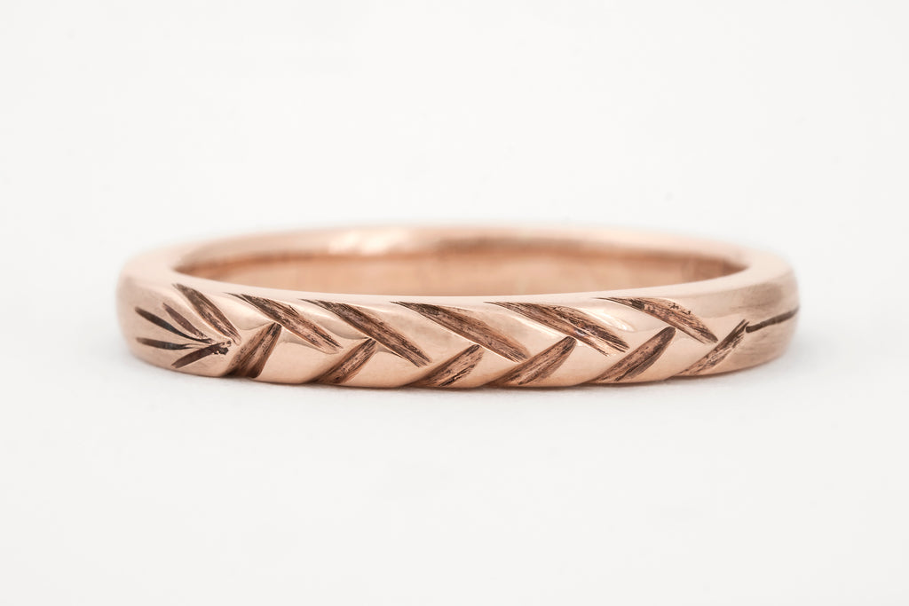 Wheat Ring Rose Gold