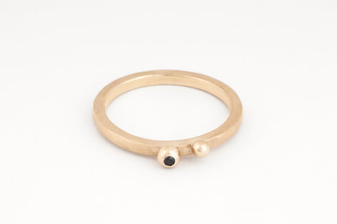Ripples Bubble Ring, Black