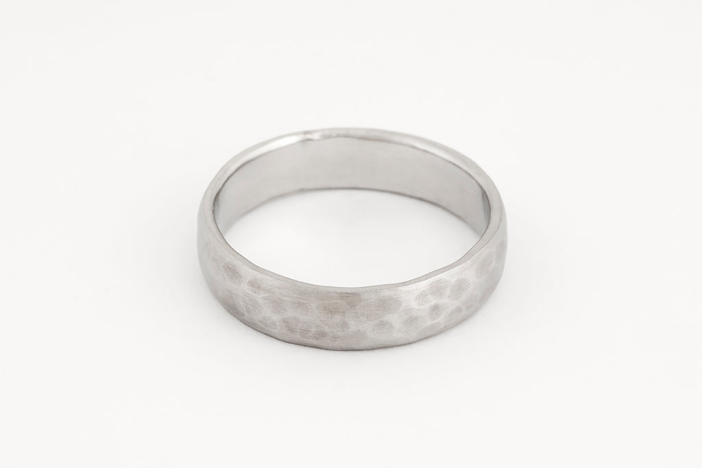 Wedding Ring, Platinum Half Round Profile