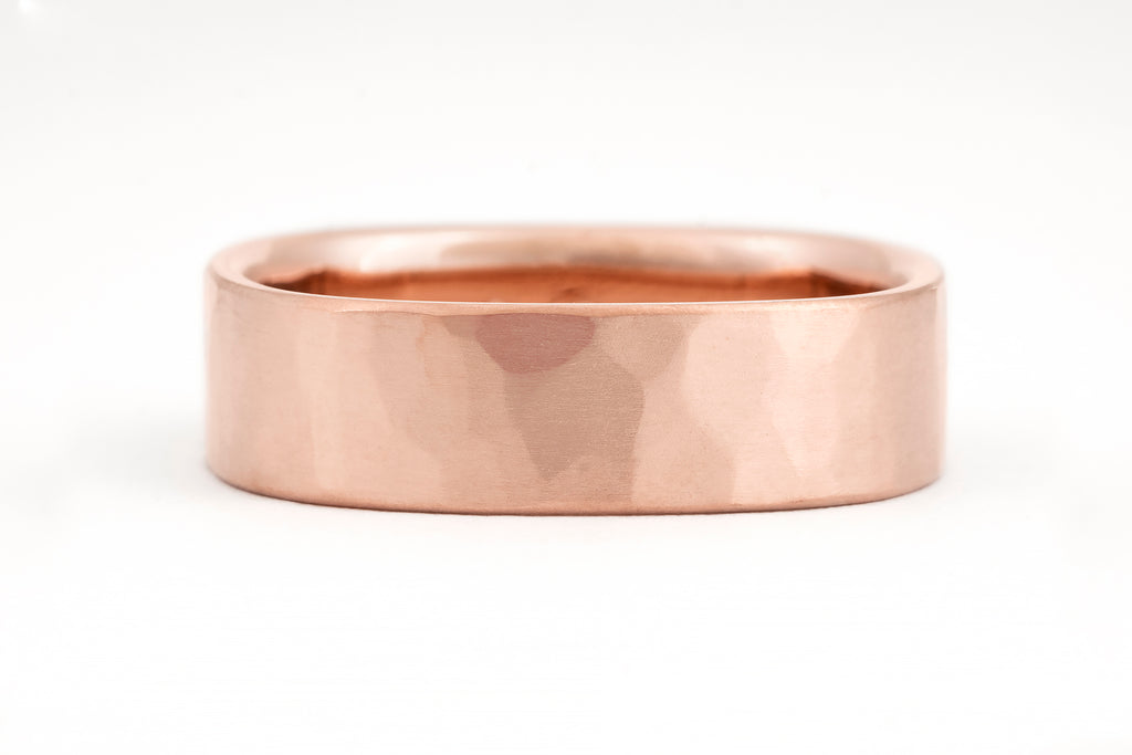 Square Ripples Ring, Rose Gold
