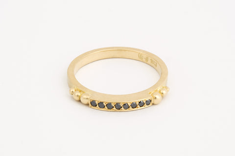 Black Diamond Granule Ring