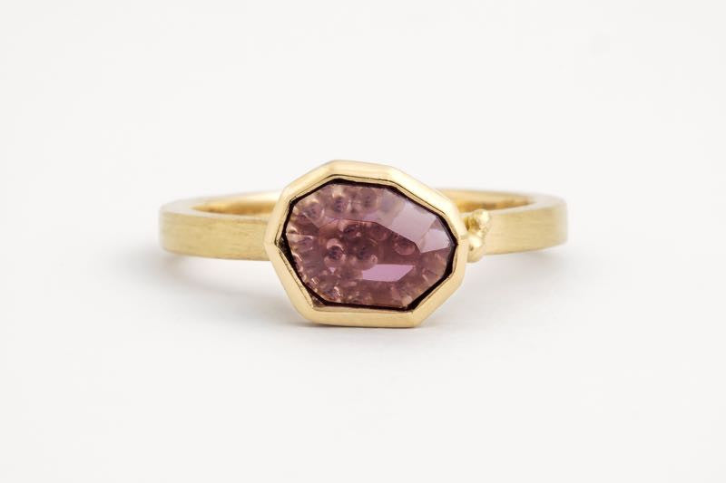 Freeform Plum Spinel Ring