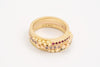 Yellow Gold Diamond Granule Ring