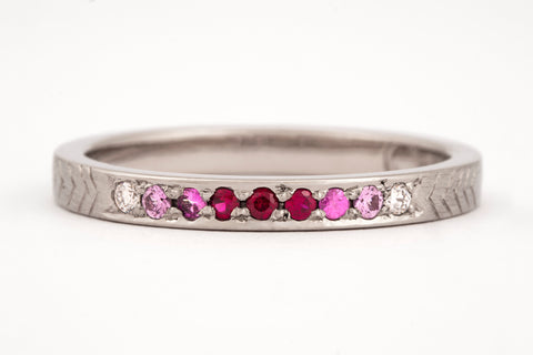 Ombre Pink Sapphire Ring