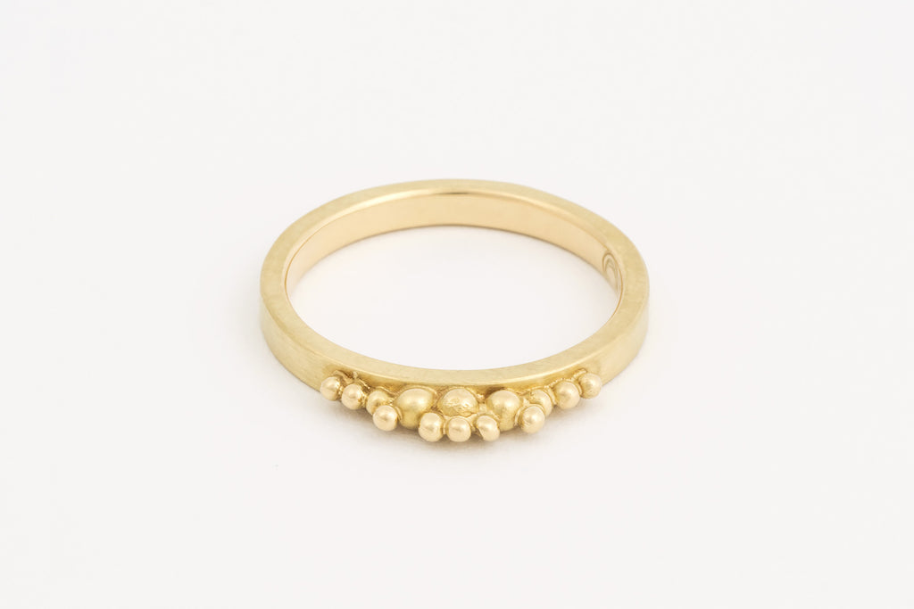 Yellow Gold Granule Ring
