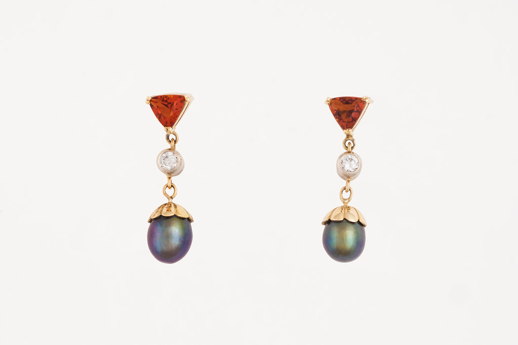 Topaz Diamond Pearl Drops