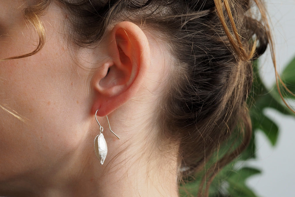 Silver Gevillea Seedpod Earrings