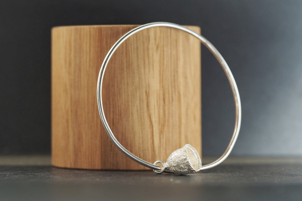 Silver Bangle with Large Gumnut Charm