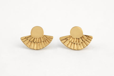 Gold Fan Out Studs