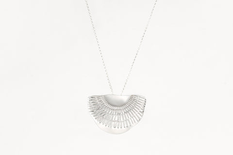 Between the Lines Necklace Silver