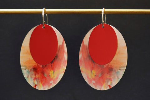 Red Art Attack Earrings