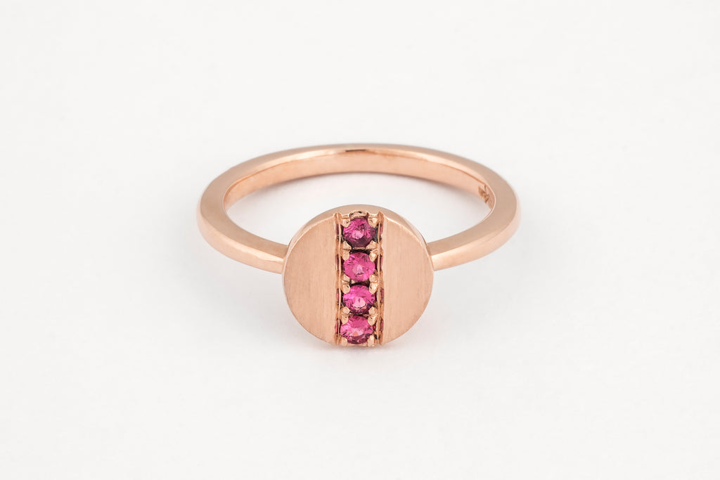 Pink All In A Row Ring