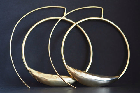 Large Gold Pea Pod Sliders