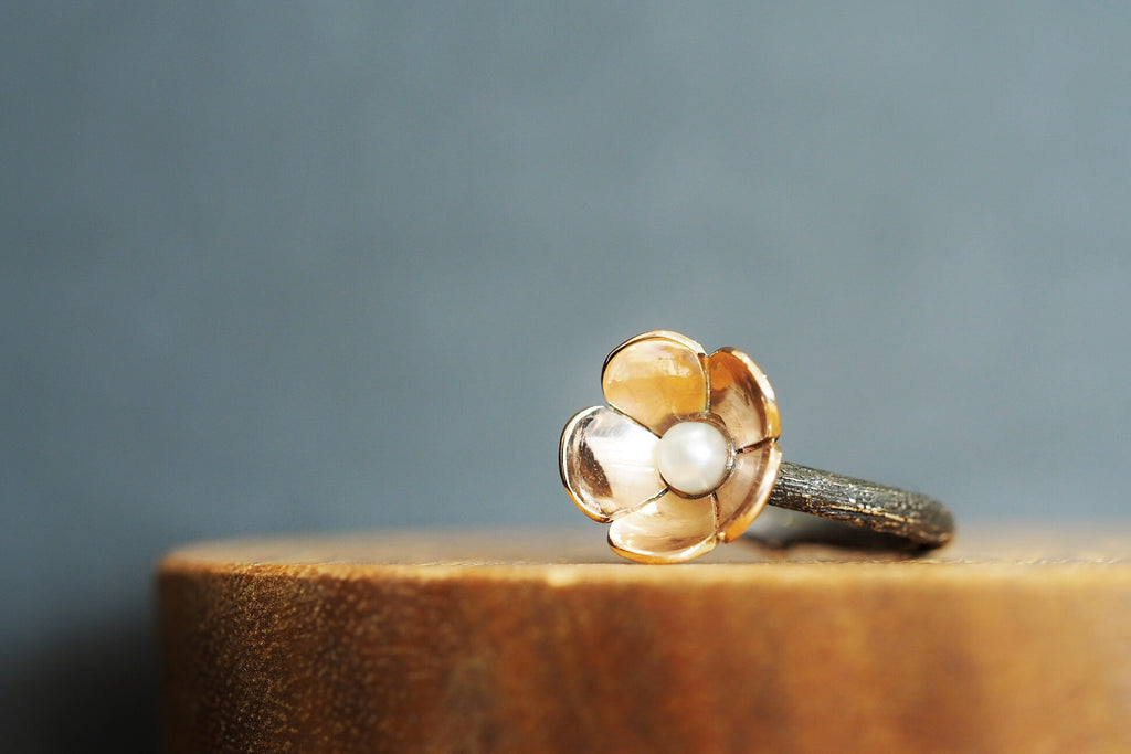 Twig and Blossom Ring