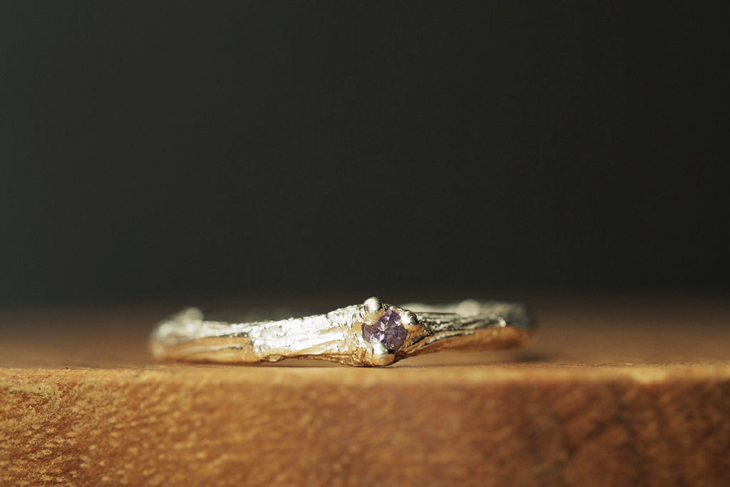 Sticks and Stones Amethyst Ring