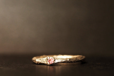 Sticks and Stones Pink Garnet Ring