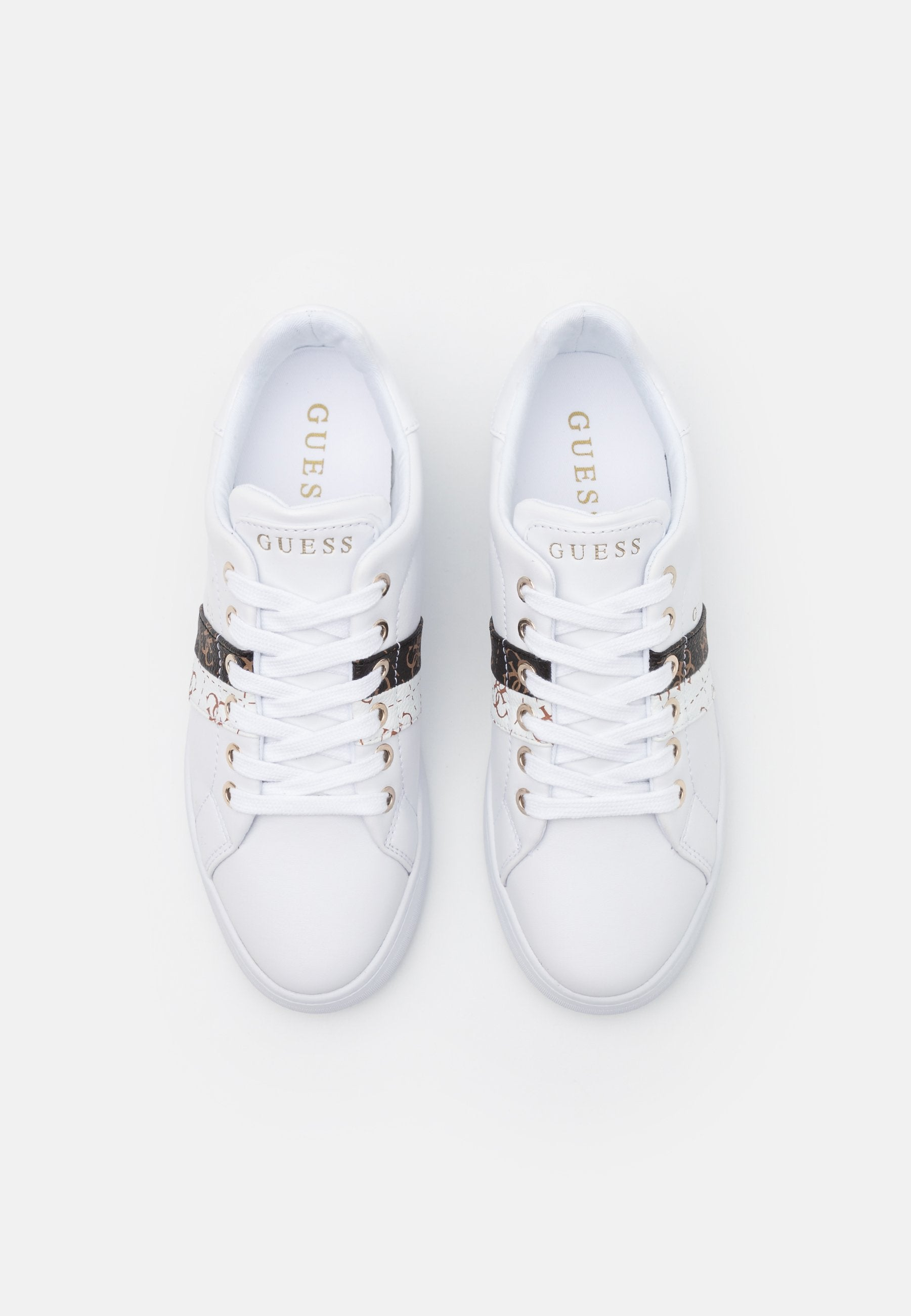 Guess Reel Sneakers 4G Logo Wit