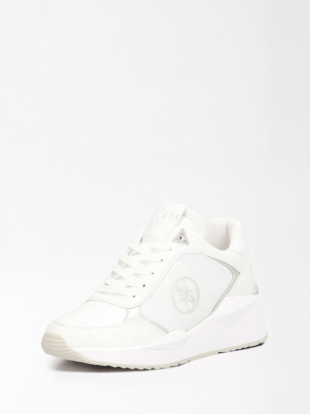 Guess Sneakers Tesha 4G Logo Wit