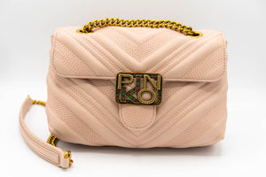 Pinko Logo Mini Puff V Jewel Rosa